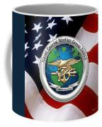 Naval Special Warfare Group Three - N S W G-3 - Over U. S. Flag Coffee Mug