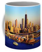 Navy Pier In The Lake At Sunrise, Lake Coffee Mug