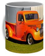 Neat Vintage Chevrolet Truck In Bright Orange Coffee Mug