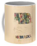 Nebraska Map Vintage Watercolor Coffee Mug