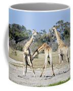 Necking Giraffes Botswana Coffee Mug