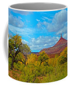 Needle-topped Butte From Highway 211 Going Into Needles District Of Canyonlands National Park-utah  Coffee Mug