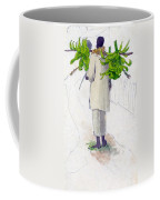 Negro Man Carrying Plantains On Pole Coffee Mug