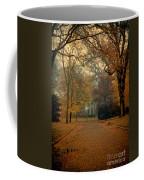 Neighborhood Street In Autumn Coffee Mug