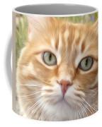 Yellow Cat Digital Art Coffee Mug