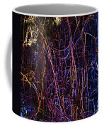 Neon Chickenwire Abstract Coffee Mug