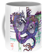 Neon Dragon In High Contrast Coffee Mug