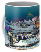 Neon Lights Of Spokane Falls Coffee Mug by Carol Groenen