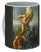 Neptune And His Chariot Of Horses Coffee Mug