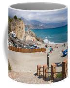 Nerja Beach In Spain Coffee Mug