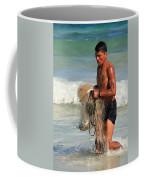 Net Fisherman In Tulum Coffee Mug