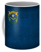 Nevada State Flag Art On Worn Canvas Coffee Mug