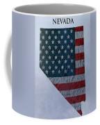 Nevada Topographic Map Coffee Mug