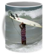 Never Too Little Never Too Big To Surf Coffee Mug