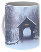 New England Covered Bridge In Winter Coffee Mug