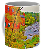 New England Stream In Fall Coffee Mug