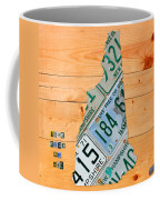 New Hampshire License Plate Map Live Free Or Die Old Man Of The Mountain Coffee Mug by Design Turnpike