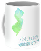New Jersey - Garden State - Map - State Phrase - Geology Coffee Mug