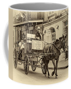 New Orleans - Carriage Ride Sepia Coffee Mug