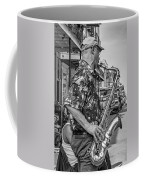 New Orleans Jazz Sax Bw Coffee Mug