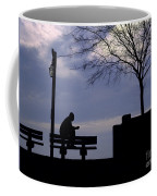 New Orleans Riverwalk Silhouette Coffee Mug