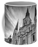 New Orleans St Louis Cathedral Bw Coffee Mug