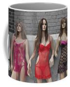 Sex Sells Mannequins In Lingerie In Downtown Los Angeles  Coffee Mug
