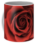 Close Up Heart Of A Red Rose Coffee Mug