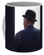New Photographic Art Print For Sale   Iconic London Man In Bowler Hat Coffee Mug