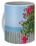 New Photographic Art Print For Sale On The Fence Montecito Bougainvillea Overlooking The Pacific Coffee Mug