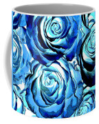 Pop Art Blue Roses Coffee Mug