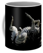 Frolicking Zebra On Black Coffee Mug