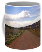 Red Road From The Benedictine Abbey Of Christ In The Desert New Mexico  Coffee Mug