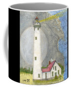 New Presque Isle Lighthouse Mi Nautical Chart Map Art Coffee Mug