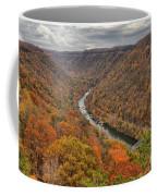 New River Gorge Overlook Fall Foliage Coffee Mug