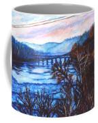 New River Trestle In Fall Coffee Mug