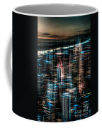 New York - The Night Awakes - Dark Coffee Mug by Hannes Cmarits