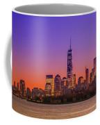 New York City Manhattan Midtown Panorama At Dusk With Skyscraper Coffee Mug
