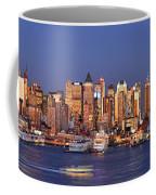 New York City Midtown Manhattan At Dusk Coffee Mug