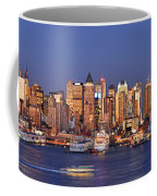 New York City Midtown Manhattan At Dusk Coffee Mug