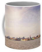 New York City Skyline And The Hudson River Coffee Mug