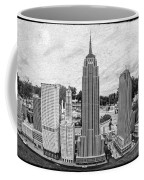 New York City Skyline - Lego Coffee Mug by Edward Fielding