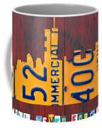 New York City Skyline License Plate Art 911 Twin Towers Statue Of Liberty Coffee Mug