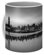 New York City Skyline Stillness Bw Coffee Mug