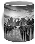 New York City Skyline Sunset Hues Bw Coffee Mug