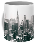 New York City - Snow-covered Skyline Coffee Mug