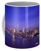 New York City Tribute In Lights World Trade Center Wtc Manhattan Nyc Coffee Mug