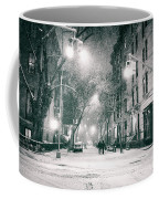 New York City - Winter Night In The West Village Coffee Mug