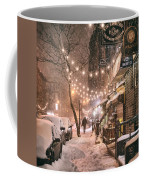 New York City - Winter Snow Scene - East Village Coffee Mug by Vivienne Gucwa