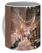 New York City - Winter Snow Scene - East Village Coffee Mug
